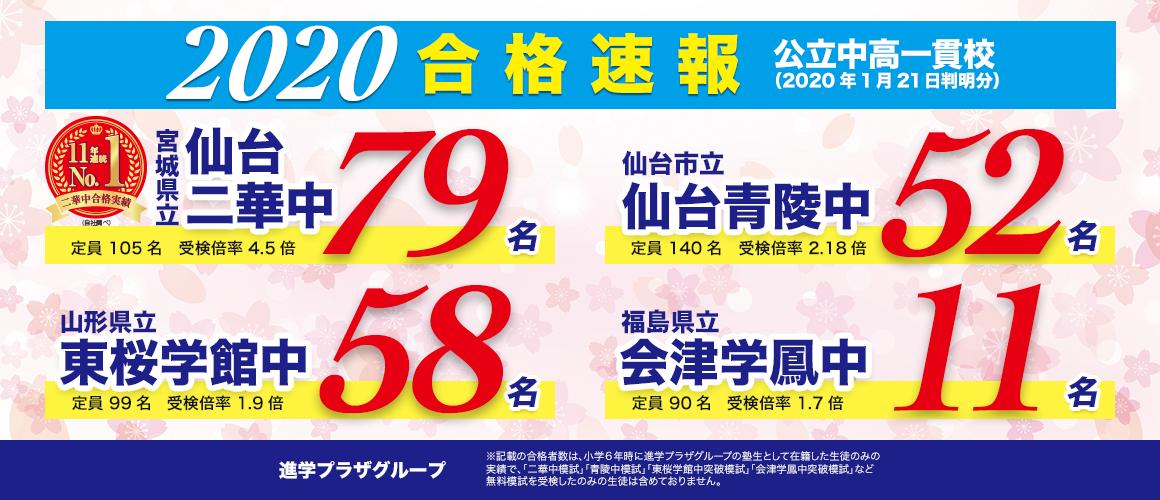 合格速報_2020中学入試