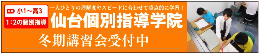 仙台個別指導学院|小1〜高3対象<1:2個別指導>