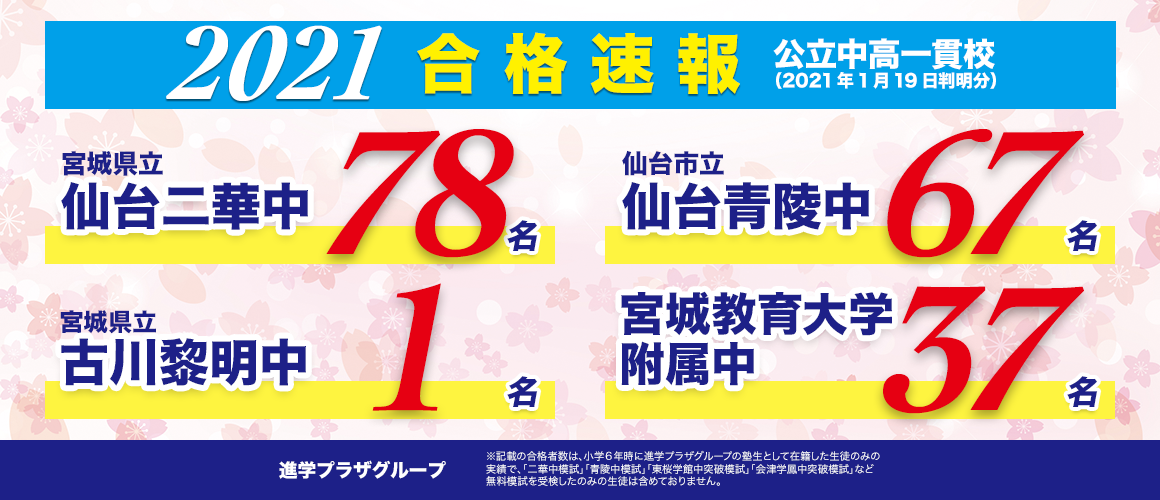 合格速報_2021中学入試